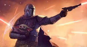 star wars mandalorian and baby yoda