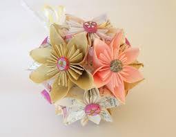 Paper Quilling Flower Bokeh Paper Flower Bouquet Paper Wedding Bouquet Bridal
