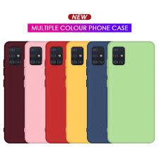 <b>Soft Silicone Pure</b> Color Shockproof Case For Samsung Galaxy A51 ...