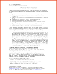 personal vision statements examples case statement  8 personal vision statements examples