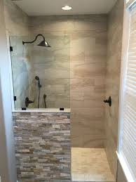 New shower replaced the old jacuzzi tub