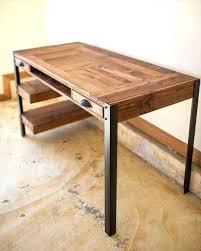 diy furniture legs wood desk pallet wood desk with 2 drawers center shelf wooden furniture legs diy furniture legs