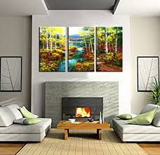 home decor canvas prints wall art birch wood modern landscape
