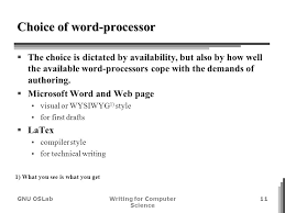 writing for computer science algorithms editing cho ho gi gnu oslabwriting for computer science 11 choice of word processor iuml130sect the choice is dictated