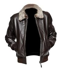 leather creative leather jacket with faux fur collar