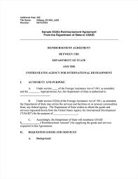 Sample Reimbursement Letters Sample 632 B Reimbursement Agreement From The Department Of