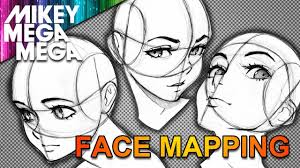 Face Perspective Chart Mapping The Face For Anime Manga