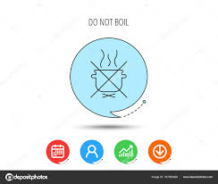Boil Stock Chart Boiling Saucepan Icon Do Not Boil Water Sign Stock