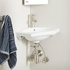 borden porcelain wall mount corner sink
