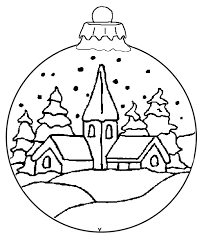 Kleurplaat Van Kerstbal