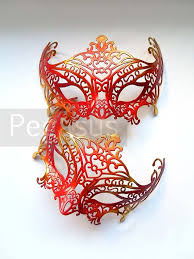 Masquerade Mask Template Impressive Red And Gold Masquerade Mask 48 Mask Ballroom Masquerade Mask For A