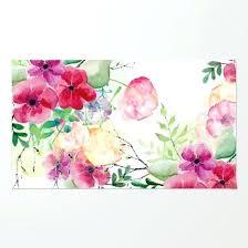 flower rugs vintage flowers watercolor fl painting rug round crochet pattern peony