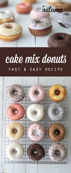great idea! you can use a cake mix to make quick & easy donuts in