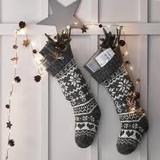 gray christmas stockings. Modren Stockings Fair Isle Christmas Stocking With Gray Stockings