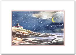 Beavertail Lighthouse With Snowy Owl On Tree Jamestown