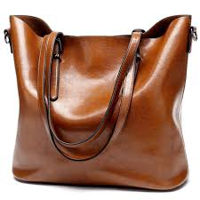 women leather handbags large bucket tote bag soft leather shoulder cross bags brown gray black messenger bag women
