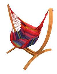 lazyrezt xl hanging chair with wooden arc stand set maranon hammocks uk