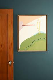 diy oak canvas float frame