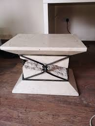 marble effect column table