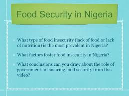 essay on food insecurity in nigeria   essaycauses of insecurity from global to local food security ppt