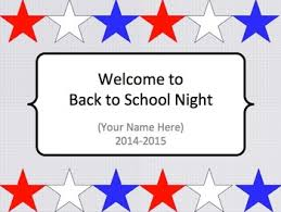 Red White And Blue Powerpoint Templates Red White And Blue Patriotic Themed Back To School Night