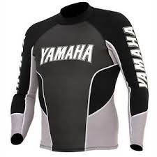 Details About Yamaha Pwc Waverunner Riding Black Grey Pullover Jacket Wet Suit Top Xs X Small