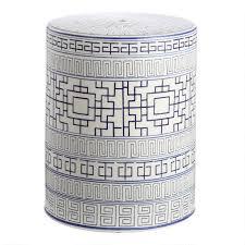 shantou navy white ceramic outdoor