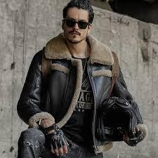 men genuine leather jacket men sheepskin coat shearling short design fashion fur coats outerwear mens leather
