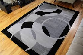 rugged perfect round area rugs contemporary in black rug and grey