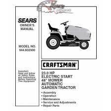 craftsman tractor parts manual 944 602900