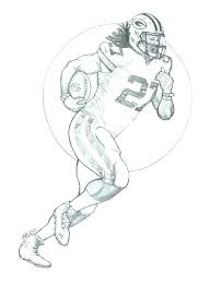 Green Bay Packer Coloring Pages Sheemcity
