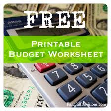How To Budget | Free Printable Budget Worksheet - Faithful Provisions