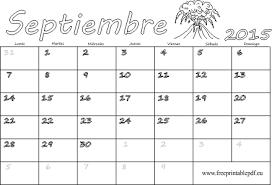 Septiembre 2015 Calendario En Blanco Blanco Y Negro Imprimir El
