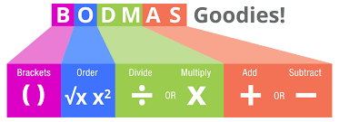 bodmas diagram brackets order division multiplication addition and subtraction