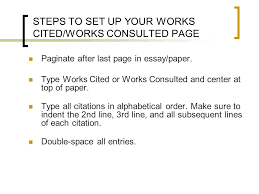 works cited works consulted ppt steps to set up your works cited works consulted page