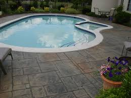 stamped concrete pool patio. Stamped Concrete Pool Patio R