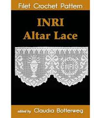 Inri Altar Lace Filet Crochet Pattern Complete Instructions And Chart