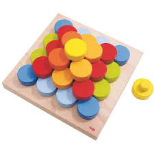 Wooden Peg Games HABA Color Buttons Pegging Game Wooden Toys for Toddlers 97