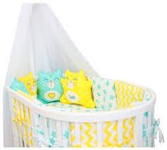 ByTWINZ <b>комплект</b> в <b>круглую кроватку</b> с игрушками Котики (7 ...