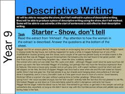 descriptive writing weeks unit based on the wolves in walls by  ks3 descriptive writing show don t tell