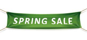 furniture sale banner. Spring Sale Banner Sized Furniture