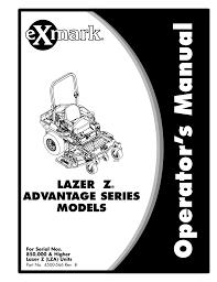 Exmark Lazer Z Light Kit Exmark 0 Lawn Mower User Manual Manualzz Com