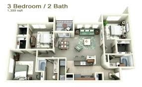 3 bedroom apartments plan. 3 Bedroom Apartments Plans House Three Con Google Simple Flats In India Plan