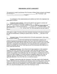 28 Printable Performance Contract Templates Fillable