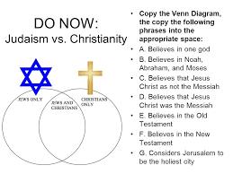Christianity Vs Judaism Venn Diagram Bismi Margarethaydon Com
