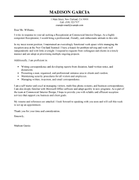 Receptionist Cover Letter Resume Builder