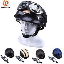 vine motorcycle helmet motors moto leather capacete casco casque cruiser for cafe racer atv uv goggles