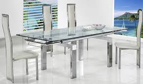 extendable glass dining table and chairs 4361 decoration in extendable glass dining table set