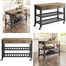 kitchen island cart industrial. Image Is Loading Rolling-Farmhouse-Kitchen-Island-Cart-on-Wheels-Rustic- Kitchen Island Cart Industrial