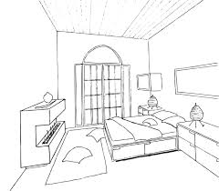Modern Bedroom Drawing Come With Simple Hand Sketch Idea And Bedroom